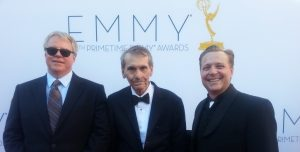 Art Fuller With Gary Shusett And James Ganiere at the 64th Nokia Live Emmys (9-247-2012)